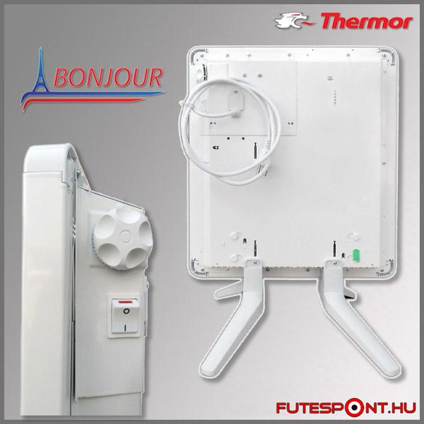 Thermor Bonjour konvektor mechanikus termosztát és hátsó rész