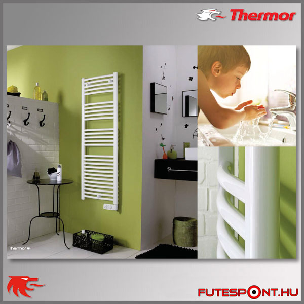 Thermor Corsaire törölközőszárító radiátor íves kivitel
